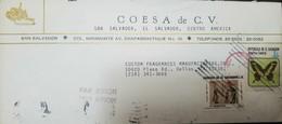 O) 1985 CIRCA - EL SALVADOR, PRECOLUMBIAN ART - CERAMIC, LOCAL BUTTERFLIES - PAPILLO TORQUATUS, COESA A DE C. V., AIRMA - El Salvador