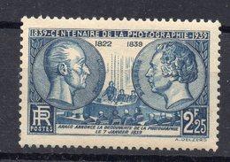 1939--tp  N° 427   NEUF   SANS CHARNIERE...Centenaire De La Photographie -- Cote  18€ ......à  Saisir - France