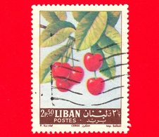 LIBANO - Usato - 1962 - Frutta - Ciliegie - Prunus Avium - Cerise - 2.50 - Libano