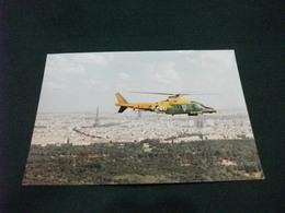 ELICOTTERO   ELICOPTERS  A 109 II IN VOLO DELLA GUARDIA DI FINANZA PER IL SALONE INT. DELL'AERONAUTICA BOURGET PARIGI - Elicotteri