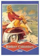 Publicité Kléber Colombes Illustrateur Géo Ham Patinage Hiver - Cartes Postales