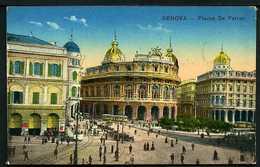 Genova - Piazza De Ferrari - Posta Militare 1919 - Timbro Posto Di Ristoro Soldati Stazione Brignole - Rif. Ab724 - Genova