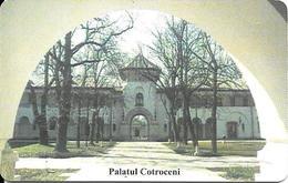 CARTE-PUCE-ROUMANIE-SA1-200000 Lei-ROMTELECOM-PALAIS COTROCENI BUCAREST-UTILISE-TBE - Roumanie