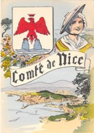 06 - NICE : Comté De NICE - Blason Armoiries Blason Héraldique - CPSM GF - Alpes Maritimes - Autres
