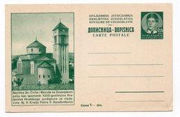 KINGDOM OF YUGOSLAVIA, SERBIA, BAZILIKA CYRILA & METODA IN TOBACO FIELD, POSTAL STATIONERY NOT USED - Postal Stationery