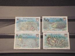 TUVALU - 1992  WWF FAUNA 4 VALORI - NUOVI(++) - Tuvalu