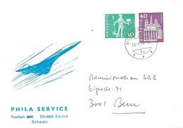 """Motiv Brief  """"Phila Service Zürich""""  (Concorde)            1984 - Suisse"""