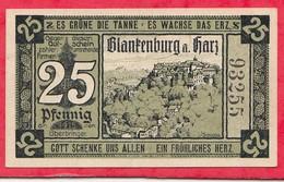 Allemagne 1 Notgeld De 25 Pfenning  Stadt Blankenburg Dans L 'état  N °3894 - [ 3] 1918-1933 : République De Weimar
