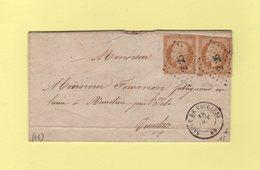 Sault De Vaucluse - 86 - Vaucluse - Pc 2826 - 18 Oct 1858 - Marcophilie (Lettres)