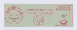 BRD AFS - OLDENBURG, Nordwesthandel Oldenburg 28.1.63 - Annullamenti & A. Meccaniche (pubblicitarie)