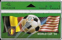 CARTE-HOLOGRAPHIQUE-BELGIQUE-SPORT-FOOT-WORLD CUP 1994_N°405H21531-UTILISE-TBE - Sport