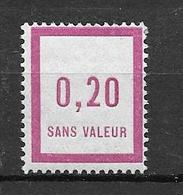 FRANCE FICTIF N°F7** Mnh Sans Charnière - Fictifs