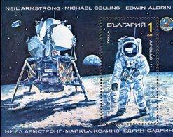 Jubiläum Mondflug 1990 Bulgarien Block 213 ** 2€ USA Astronaut Amstrong Auf Dem Mond Hb M/s Bloc S/s Sheet Bf Space - Space