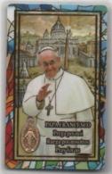 Santino Con Medalietta Di Papa Francesco Bergoglio - Devotieprenten