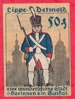 Allemagne 1 Notgeld De 50 Pfenning  Stadt Detmold Dans L 'état  N °3913 - [ 3] 1918-1933 : République De Weimar