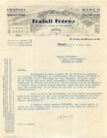 FACTURE 1941 FRAIOLI FRERES  VERMOUTH TURIN ET MARSALA  A THIAIS - Francia