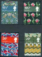 GROSBRITANNIEN GRANDE BRETAGNE GB 1982 TEXTILES SET OF 4 USED SG 1192-95 MI 923-26 SC 996-999 IV 1052-1055 - 1952-.... (Elisabeth II.)