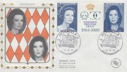 Enveloppe  FDC  1er  Jour  MONACO   Fondation  Princesse  Grace   1989 - FDC