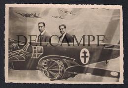 REAL PHOTO PORTO RECORDAÇÃO DO PORTO FONTAINHAS S.JOÃO BLENHEIM AIRCRAFT POSTER - 1948 (É UMA FOTO) - Porto