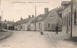 60 Giraumont Intersection De Coudun Et Giraumont Cpa Carte Animée , Voir état Ci Dessous - Autres Communes