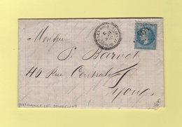 Ourouer Les Bourdelins - 17 - Cher - 6 Aout 1869 - GC 4643 - Storia Postale