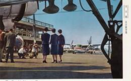 Komaki Airport, Nagoya Japan, Flight Crew Stewardesses Pose For Camera On Tarmac, C1960s Vintage Postcard - Aerodromi