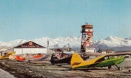 Merrill Field Anchorage Alaska, Small Single-engine Planes On Ground United Airmotive Inc, C1950s/60s Vintage Postcard - Vliegvelden