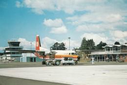 Rotura Airport, New Zealand, NAC Propeller Plane Equipment On Tarmac Terminal Building C1970s/80s Vintage Postcard - Aerodromes