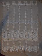 Vintage - Paire De Rideaux Décoration Bateaux à Voiles Années 80 - Dentelles Et Tissus