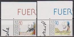 Lichtenstein 1991 MiNr.1013 - 1014 ** Postfrisch 500.Geb. Ignatius Von Loyola ( 9421 ) Günstige Versandkosten - Liechtenstein