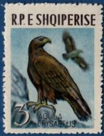 Albania 1963 Stone Eagle 1 Value MH - Eagles & Birds Of Prey