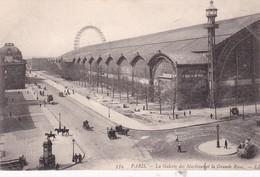 PARIS. LA GALERIE DES MACHINES ET LA GRANDE ROUE. LL. CHARRIOT VINTAGE VIEW D'EPOQUE. CPA CIRCA 1905s - BLEUP - France
