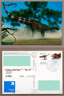 Portugal Stamps | Postcard - ATM Dinosaur And Postcard - Used - Portugal
