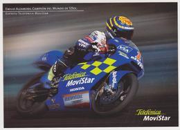 1696/ MOTO Honda. Emilio Alzamora Campeón Del Mundo De 125cc [1999]. Telefónica Movistar.- Non écrite. Unused. - Motociclismo