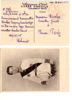 Télégramme D'Etat  De Vichy   Haussaire HANOÏ  à 1 Résident  Phnom-Pen Cambodge Carte Photo De S.M. Norodom Sihanouk - Indochine (1889-1945)
