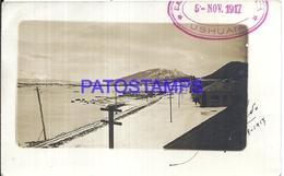 113025 ARGENTINA TIERRA DEL FUEGO USHUAIA VISTA PARCIAL YEAR 1917 BREAK POSTAL POSTCARD - Argentine