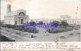 113026 ARGENTINA BUENOS AIRES SAN PEDRO PLAZA CONSTITUCION & MILL MOLINO POSTAL POSTCARD - Argentinien