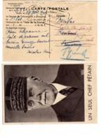 Gouvernement Général INDOCHINE  Service  Information Recu Télégramme Phom-Penh -MARECHAL PETAIN UN SEUL CHEF - Indochine (1889-1945)