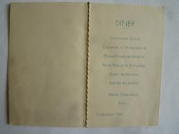 MENU EMBLEME AUTOGRAPHE RESIDENCE SUPERIEURE AU CAMBODGE  à PHNOM-PEN DINER 1943 - Menus