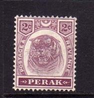 MALAYA PERAK MALESIA 1895 1899 TIGER TIGRE CENT. 2c MLH - Perak