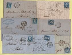 Lot De 13 Lettres Avec Ambulant Nantes A Paris Differentes Brigades - Voir Scan - 1849-1876: Classic Period