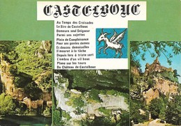 48 Gorges Du Tran Sit Eet Légende De Castelbouc (2 Scans) - Francia