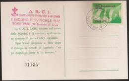 Italia Souvenir Card 1972 - Raduno Provinciale Scaut Park - Scouts - Scoutisme - Jamboree - Scouting - ASCI Treia - Padvinderij