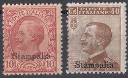 ITALIA - STAMPALIA - 1912 - Lotto Di 2 Valori Nuovi Non Linguellati: Unificato 3 E 6. - Aegean (Stampalia)