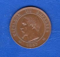 10  Cents  1857  B  Ttb - D. 10 Centimes