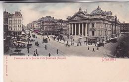 BRUXELLES. PANORAMA DE LA BOURSE ET DU BOULEVARD ANSPACH. V G ED. CPA CIRCA 1904s - BLEUP - Panoramische Zichten, Meerdere Zichten