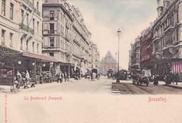BRUXELLES. LE BOULEVARD ANSPACH. V G ED. CPA CIRCA 1904s - BLEUP - Panoramische Zichten, Meerdere Zichten