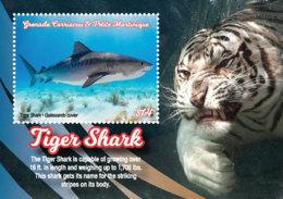 Grenada Grenadines 2019 Fauna Tiger  Sharks  I201901 - Grenada (1974-...)