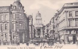 BRUXELLES. RUE DE LA REGENCE. VINTAGE OLD VIEW. CPA CIRCA 1904s - BLEUP - Panoramische Zichten, Meerdere Zichten