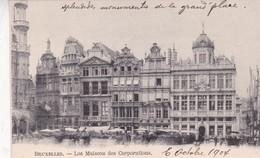 BRUXELLES. LES MAISONS DES CORPORATIONS. VINTAGE OLD VIEW. CPA CIRCA 1904s - BLEUP - Panoramische Zichten, Meerdere Zichten